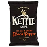 KETTLE - CHIPS SEA SALT & CRUSHED CLACK PEPPER - 150 G