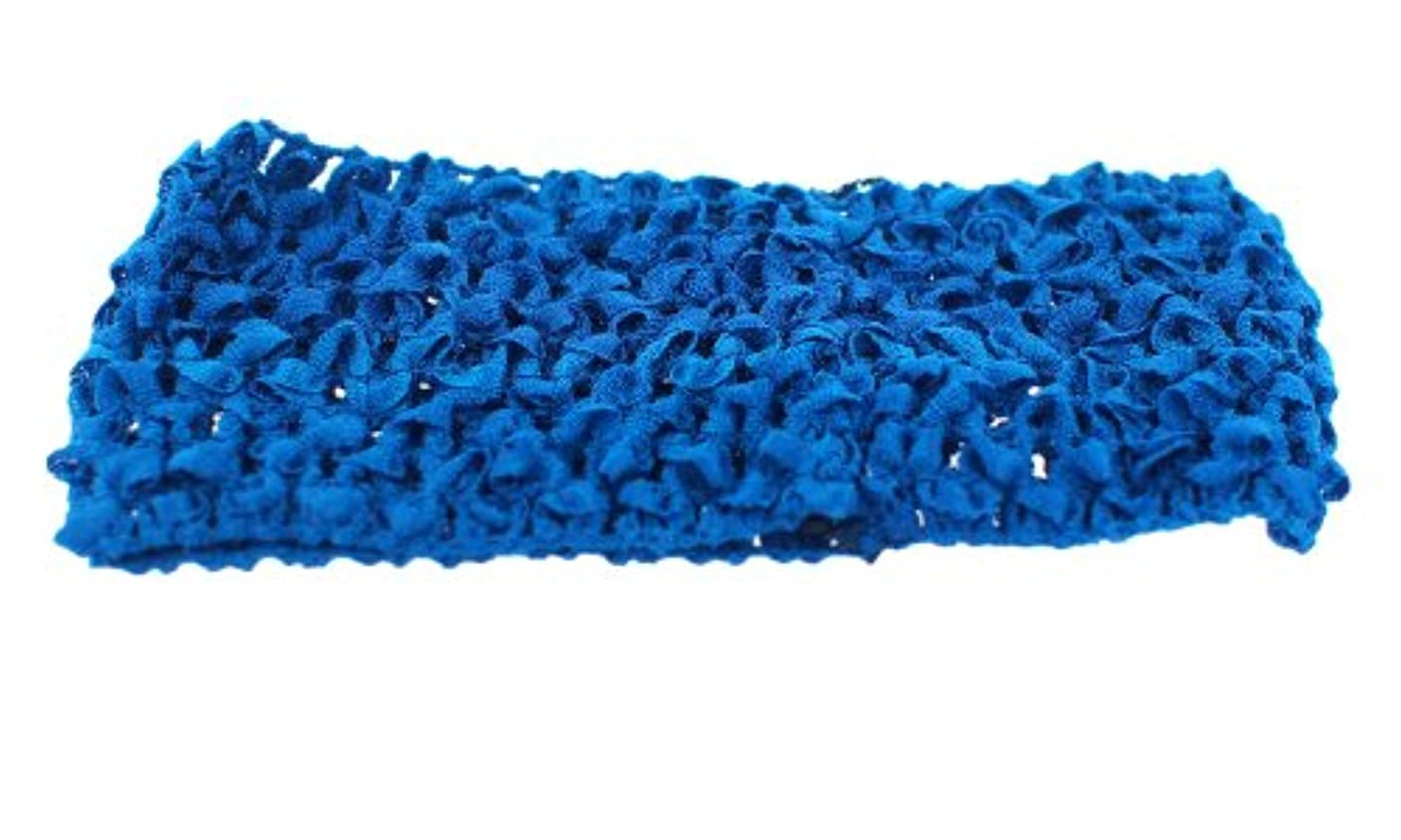Trimweaver 10-Piece Woven Crochet Fabric Headbands, 2.5-Inch, Electric Blue