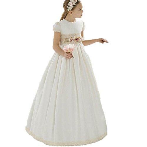 Auxico Bonita Vestidos de Las Muchachas de Flor Vestido de Primera comunión Vestidos de Fiesta
