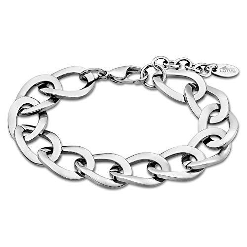 Lotus Style Pulsera para mujer de acero inoxidable plata Urban de colección jls1891–de 21