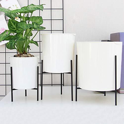 Macetas autorriego plástico Jardinera 2pcs, Redonda bonsáis, para interior decoración del hogar, con Soporte Extraíble,11cm
