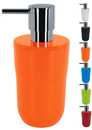 Spirella Seifenspender Flüssigseifen-Spender, Fassungsvermögen 7,5 x 7,5 x 16,5 cm - 300ml - Orange