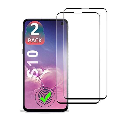 EAWEN 2 x Panzerglas Schutzfolie für Samsung Galaxy S10, Displayschutzfolie Compatible für Samsung Galaxy S10-9H Härte/Ultra-klar/3D Vollständige Abdeckung