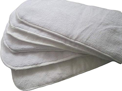 Jolie Diaper Wasserdicht Windel Einlagen für Stoffwindel 4 Lagen Mikrofaser Wiederverwendbar Waschbare Saugeinlagen (Packung mit 6 Stück)