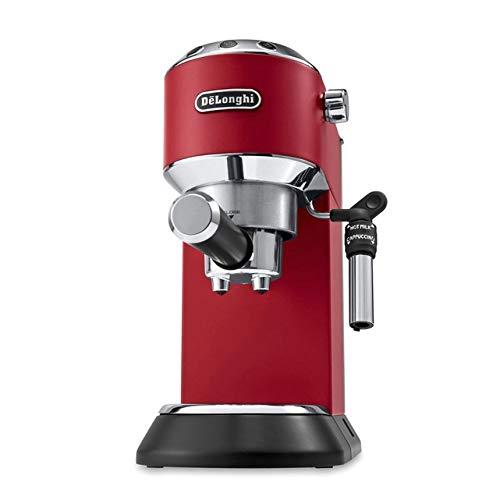 DeLonghi Dedica Style EC 695.R - Cafetera (Independiente, Cafetera combinada, 1 L, De café molido, 1450 W, Rojo)