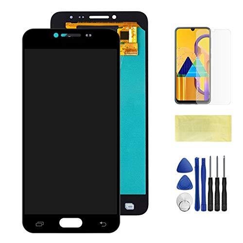 Schermi LCD per telefoni cellulari Display LCD Touch Screen Digitizer Parti di Ricambio/Adatta per Samsung Galaxy C5 C5000 Schermo LCD (Color : Black)