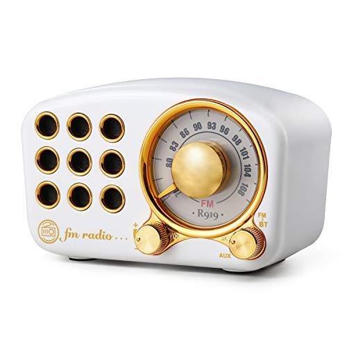 Retro Bluetooth Speaker FM Vintage Radio with Loud Volume, Strong Bass Enhancement, Bluetooth 4.2...