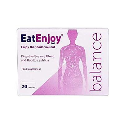 EatEnjoy Balance Digestive Enzyme Supplement | Digestive Enzymes with Probiotics & Bacillus subtilis | Digestive Enzyme Capsules for Digestion Support