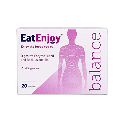 EatEnjoy Balance Digestive Enzyme Supplement   Digestive Enzymes with Probiotics & Bacillus subtilis   Digestive Enzyme Capsules for Digestion Support