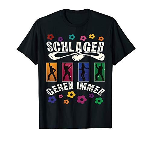Retro Schlager Kostüm das Outfit zur Schlagerparty T-Shirt
