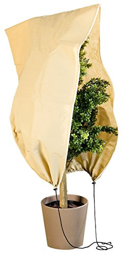 Royal Gardineer Pflanzenabdeckung: Kübelpflanzensack als Winterschutz, 100 x 80 cm, 80 g/m² (Winterschutz Pflanzen-Haube)