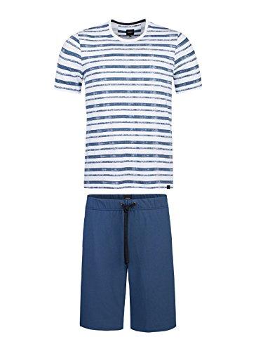 Strellson Herren Pyjama aus Baumwoll-Jersey 521094-509 Dark Denim, XL