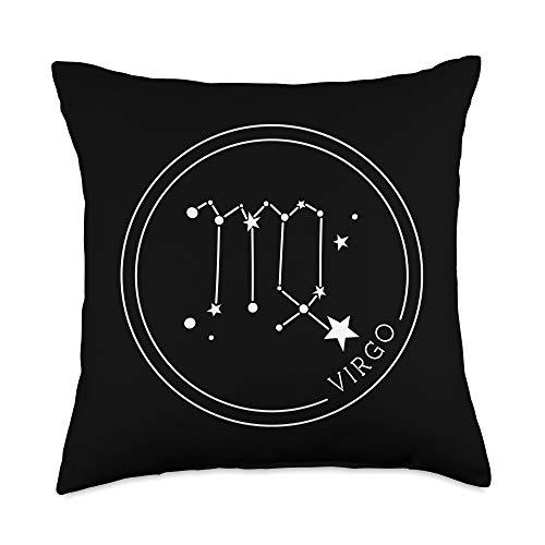 YO! Zodiac Sign Virgo Zodiac Sign Constellation Gift Horoscope Men Women Throw Pillow, 18x18, Multicolor