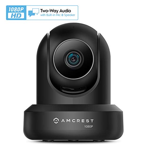 Amcrest New 1080p WiFi Camera Indoor, 2MP Pan/Tilt Home Security Camera, Auto-Tracking, Motion & Audio Detection, Privacy Mode, Enhanced Browser Compatibility, H.265, Two-Way Talk IP2M-841B-V3 (Black)