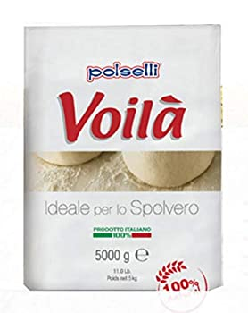 VOILA | 00 Flour | Pizza Pasta and Baking | Great for use as a Table or Dusting Flour  5 kg  11 lbs by Polselli