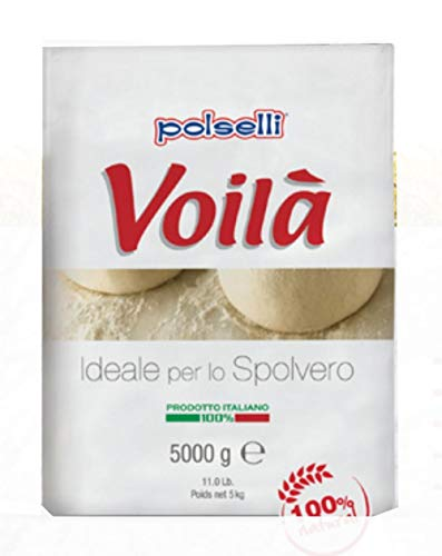 VOILA | 00 Flour | Pizza, Pasta, and Baking | Great for use as a Table or Dusting Flour (5 kg) 11 lbs by Polselli