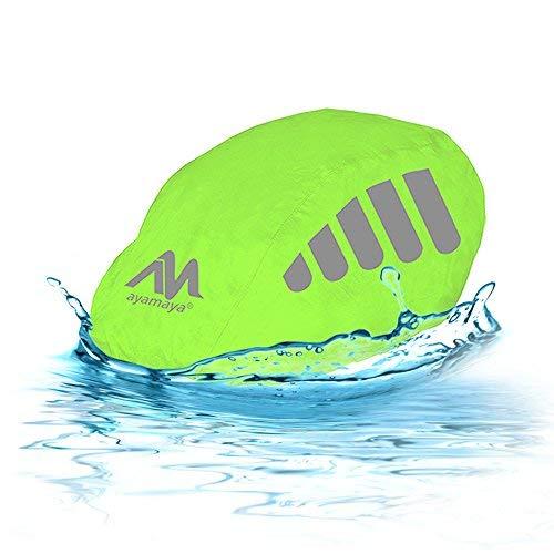 2win2buy Housse de casque de vélo imperméable, en nylon, coupe-vent, anti-poussière et anti-pluie, avec bandes réfléchissantes – Taille unique