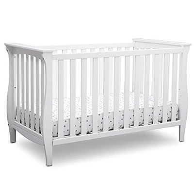 Delta Children Lancaster 3-in-1 Convertible Baby Crib, Bianca White