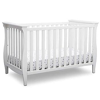 Delta Children Lancaster 3-in-1 Convertible Baby Crib Bianca White