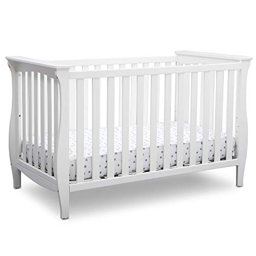 Delta Children Lancaster 3-in-1 Convertible Baby Crib, Bianca White