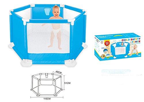 MONEYY 110Cm Tir Enfant Barrière De Sécurité Pliable Portable Intérieur Et Extérieur Maison Jeu Jouet Puzzle Tente De Clôture