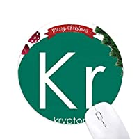 化学元素期間表希ガスクリプトンKR クリスマスツリーの滑り止めゴム形のマウスパッド