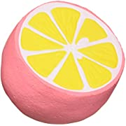 "UMIKU 4.3"" Jumbo Slow Rising Squishies Cheeki Lemon Squishy Cream Scented Charms Kawaii Squishy Toys for Kids and Adults(Pink)"