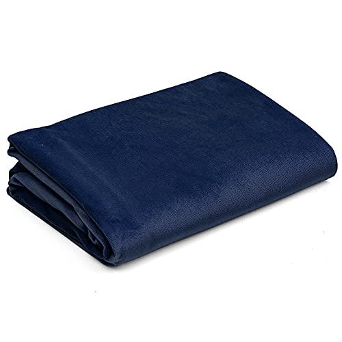 Tejido de vellón Tejido de tapicería por metro Tejido de terciopelo - Tejidos de costura de un color Tejido de tapicería Uni Öko-Tex Standard 100 (Azul marino, 200 x 160 cm - Velvet)