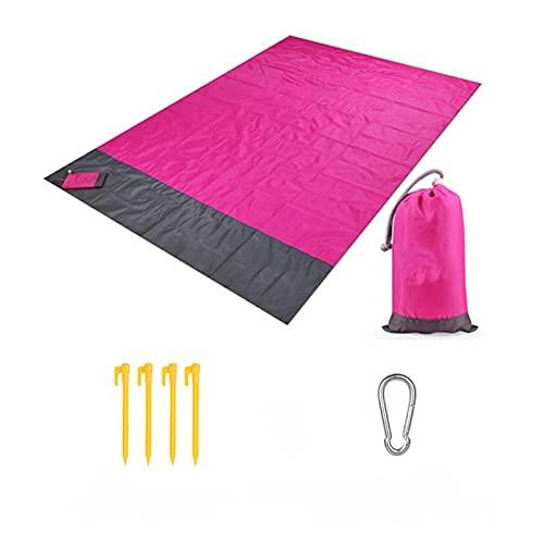 Lwcybh 2x2.1m Pocket a Prueba de Agua Manta de Playa Plegable Camping...
