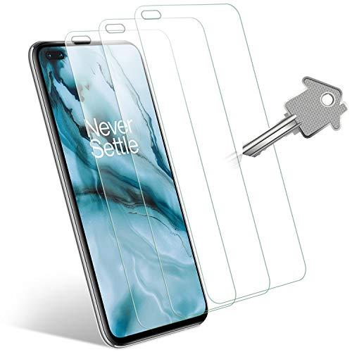 Wonanse para OnePlus NORD 5G Cristal Templado Protector de Pantalla, [9H Dureza] [Alta Definición] [Sin Burbujas] [Fácil Instalación] Vidrio Templado para OnePlus NORD 5G - 3 Piezas