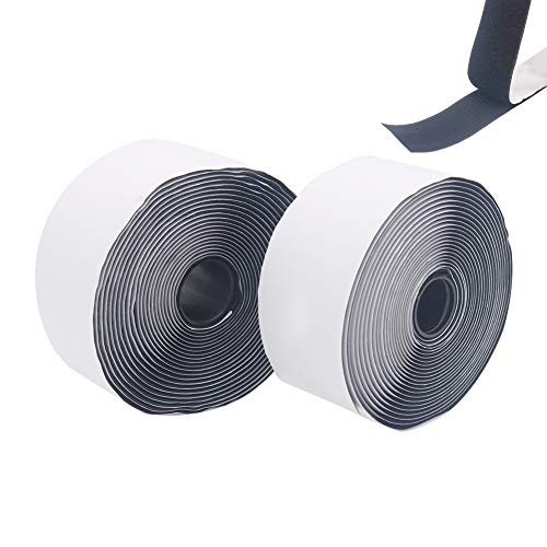 Shintop 10m Rolle Selbstklebendes Band, Klettverschluss-Band für Schwerlasten, Heimdekorationen, Werkzeug (2 Rollen x 5m)