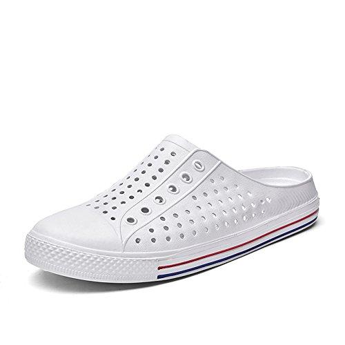 ESDY Men Womens Garden Clogs Shoes Lightweight Comfortable Beach Sandals Slip On Indoor Outdoor Summer Slippers 357 WhiteEU43