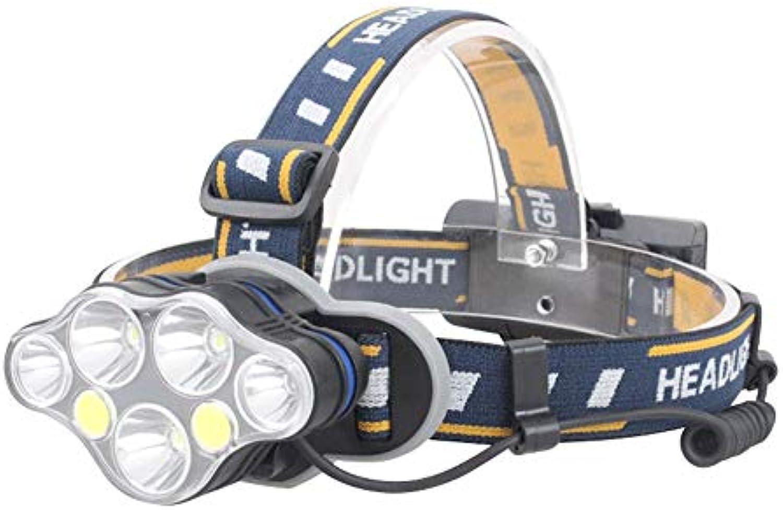 DEI QI 7  LED Scheinwerfer COB LED Wiederaufladbare Fernscheinwerfer Wasserdichte Scheinwerfer Geeignet für Outdoor-Abenteuer Reiten Laufen Camping Ausrüstung Bergmann Lampe