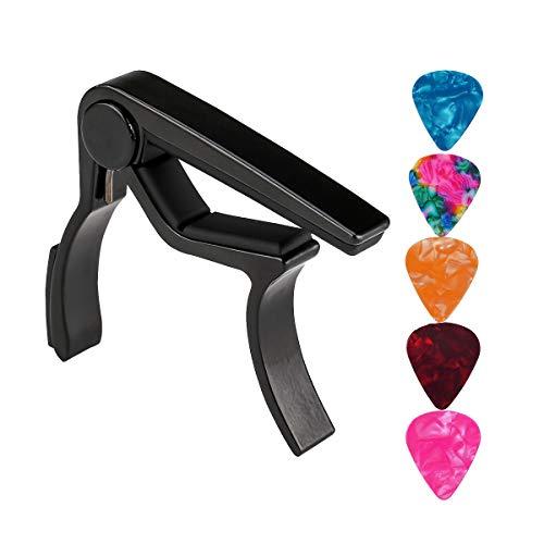 Cejilla de guitarra, con 5 unidades, para guitarra acústica, guitarra eléctrica, bajo,...