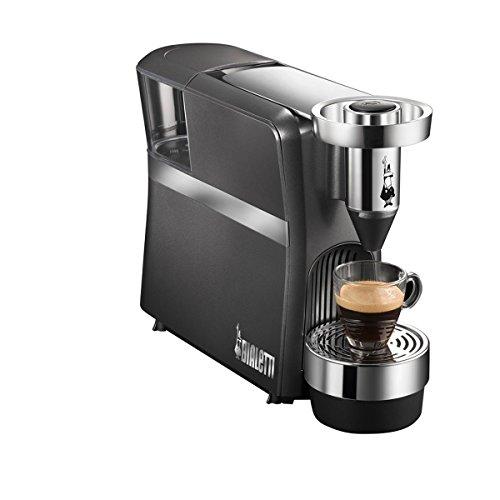 Bialetti Diva CF70 Independiente Totalmente automática Máquina de café en cápsulas 0.6L 1tazas Antracita - Cafetera...