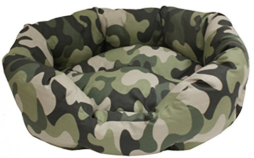 Croci Mimetic Oval Sofa pour Chien 80 x 66 x 19 cm