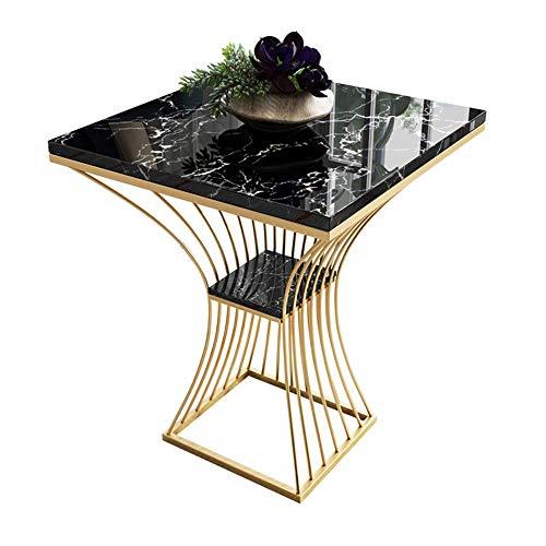 N/Z Bureau d'équipement de Vie Table d'appoint canapé Table d'appoint Salon Chambre Table de Chevet 2 Niveaux étagère en marbre Table de Travail