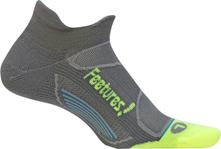 Feetures Elite Light Cushion No Show Tab,Graphite/Reflector,US M