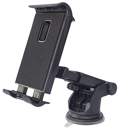 DEMCERT Cell Phone Car Holder for Samsung Galaxy Z Fold 2,ashable Strong Sticky Gel Pad with One-Touch Design Dashboard Car Phone Holder Compatible with Galaxy Z Fold 3 (Black)
