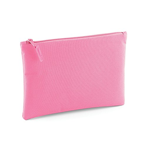 Bagbase Grab Zip Pocket Pouch Bag (Pack of 2) (One Size) (True Pink)