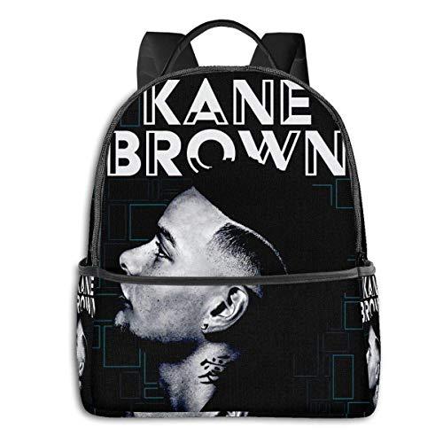 Kane Brown University School Large Capacity Backpack Computer Bag Unisex Suitable Hiking Variety Outdoor Sports