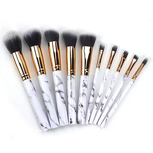 Pinceau de maquillage professionnel Creative Pierre Motif Débutant Ensemble Brosse 10 Pinceau De Maquillage Ensemble Poudre Libre Poudre Pinceau Ombre À Paupières Brosse Portable Pinceau De Maquillage