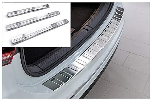 tuning-art L208-EX128 Ladekantenschutz und Einstiegsleisten, Farbe:Silber