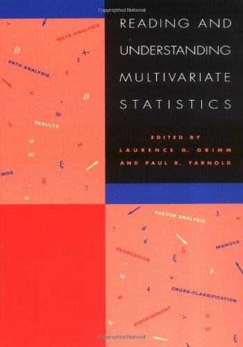 Reading & Understanding Multivariate Statistics