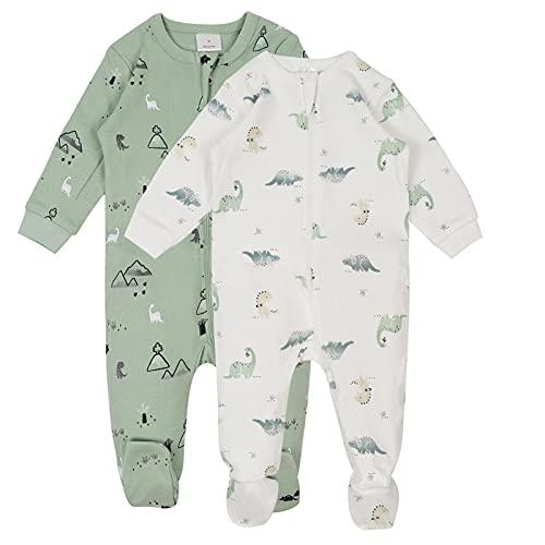 Bebé Conjunto de Pijama 2 Piezas - Pelele de Algodón Niños Niñas Mameluco Manga Larga Monos para Recién nacido 0 Meses