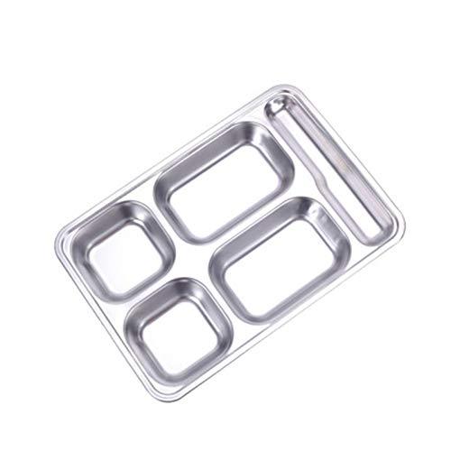 Wollaston 304 - Placa de rejilla de acero inoxidable con tapa, cuadrada, vajilla para niños y adultos, 304 de acero inoxidable
