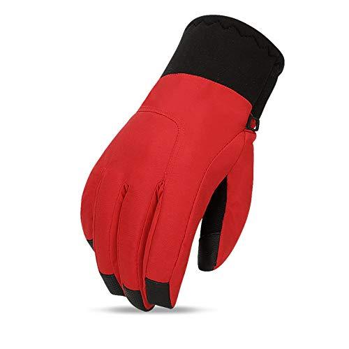 GXMGYT Guantes de esquí abrigados Pantallas táctiles para hombres al aire libre Guantes gruesos de invierno Algodón Adecuado para practicar senderismo en bicicletas de montaña @ XL_Ç