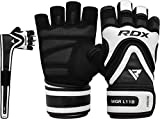 RDX Weight Lifting Gloves for Gym Workout - Long Wrist Support Strap with Anti Slip Palm Protection- Great Grip for Fitness, Bodybuilding, powerlifting, Strength Training, Weightlifting, Exercise