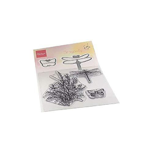 Marianne Design TC0880 Clear Silikonstempel, Libelle Stempel & Stempelsatz, zum Stanzen Bastelarbeiten und Präzision Stamping Papercrafts, Aus Plastik, transparent, one size