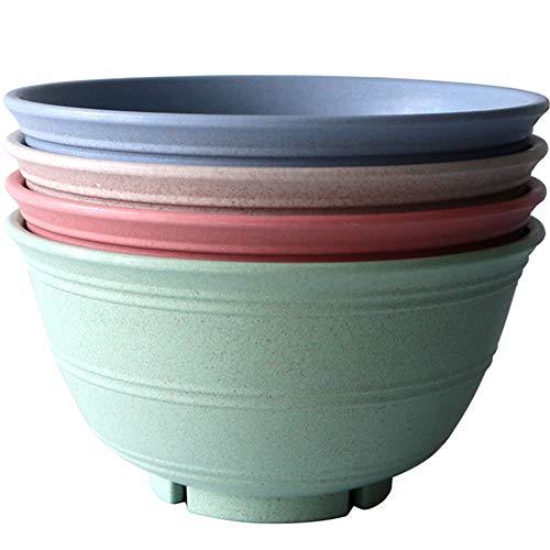 Greenandlife ciotole in fibra di grano - Microonde e lavastoviglie da 4 pezzi / 30 once Sicuro, leggero e infrangibile per bambini, bambini e adulti